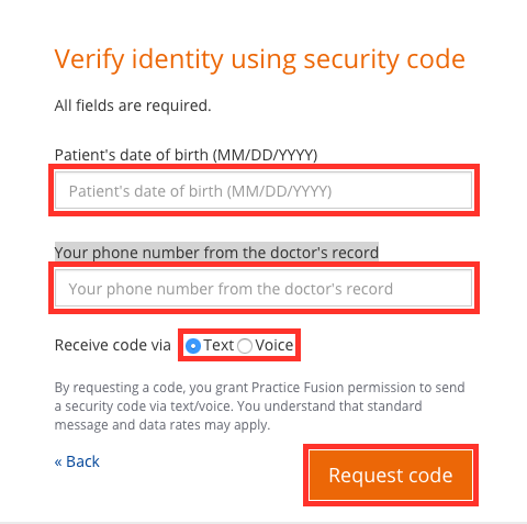 Verify Identity Using Security Code